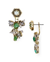 Alexis Bittar Elements Tourmaline Front Back Earrings Green Tourmaline Crystal Labradorite
