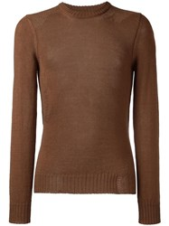 Maison Martin Margiela Loose Knit Detail Sweater Brown