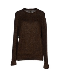 Jijil Sweaters Dark Brown