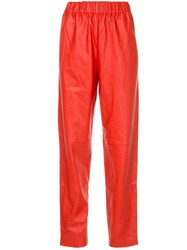 Tibi Pull On Trousers Red