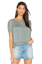 Charli Lunetta Short Sleeve Sweater Green