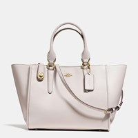 Coach Crosby Carryall In Smooth Leather Light Gold Chalk