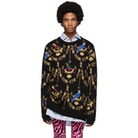 Gucci Black Voliere Jacquard Sweater