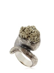 Liase Meteor Rosa Pyrite And Silver Ring