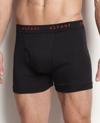 Alfani Men's Underwear Assorted Boxer Brief 4 Pack Black Assorted