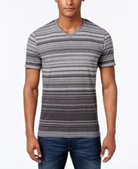 Alfani Red Striped V Neck T Shirt Only At Macy's Deep Black Combo
