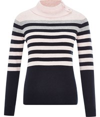 Cc Petite Stripe Roll Neck Jumper Multi Coloured