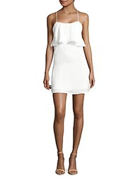 Lucca Couture Solid Popover Dress White