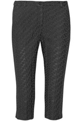 Missoni Woman Cropped Crochet Knit Skinny Pants Black