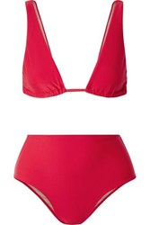 Adriana Degreas Bacio Triangle Bikini Red