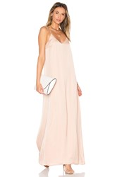 Michael Stars Zoey Satin Slip Dress Beige