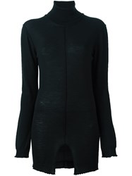Damir Doma Roll Neck Knitted Blouse Black