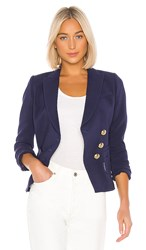 Smythe Wrap Blazer In Blue. Navy