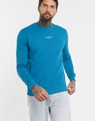 Good For Nothing Sweatshirt With Front Branding In Blue
