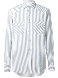 Salvatore Piccolo Striped Shirt Blue