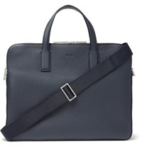 Hugo Boss Crosstown Full Grain Leather Briefcase Blue