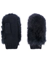 Urbancode Furry Gloves Blue