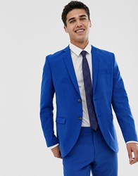 Jack And Jones Premium Stretch Slim Suit Jacket In Electric Blue Blue Depths