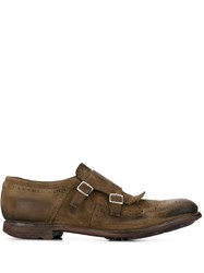 Church's Worn Effect Monk Shoes Brown