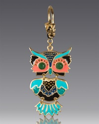 Owl Key Chain Jay Strongwater