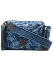Diesel Denim Crossbody Bag Blue
