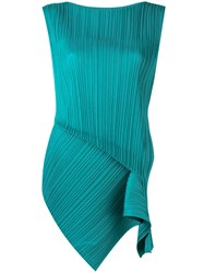 Issey Miyake Pleats Please By Pleated Tank Green