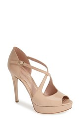 Women's Enzo Angiolini 'Abalina' Platform Pump Natural Leather