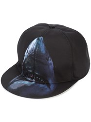 Givenchy Shark Print Cap Men Acrylic Polyamide One Size Black