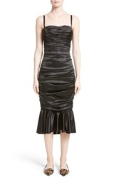 Dolce And Gabbana Women's Ruched Stretch Satin Dress