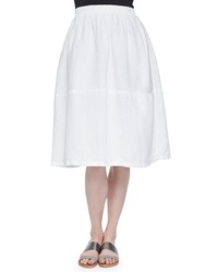 Eileen Fisher Oval Organic Linen Skirt White Petite