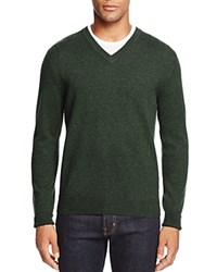 Bloomingdale's The Men's Store At Cashmere V Neck Sweater Forest Green