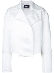 Yang Li Cropped Jacket Women Polyester 42 White