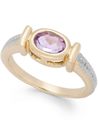 Victoria Townsend Amethyst Cable Ring In 18K Gold Over Sterling Silver 3 4 Ct. T.W.
