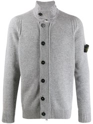 Stone Island Button Down Knitted Cardigan Grey