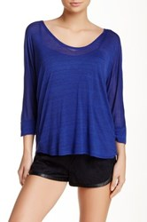 Splendid 3 4 Length Dolman Sleeve Tee Blue