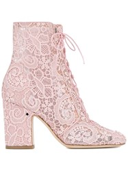 Laurence Dacade Milly Lace Boots Pink And Purple
