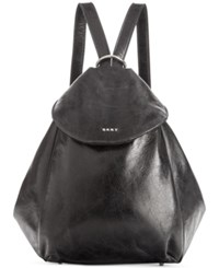 Dkny Tess Convertible Medium Backpack Created For Macy's Black Silver