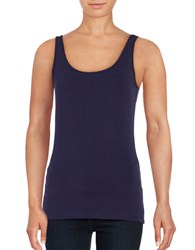 Lord And Taylor Iconic Fit Slimming Tank Blue