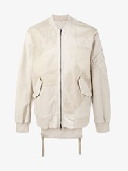 Helmut Lang Patchwork Bomber Jacket Nude And Neutrals
