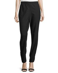 Cnc Costume National Wool Blend Woven Trousers Black
