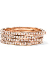 Repossi Antifer 18 Karat Rose Gold Diamond Ring