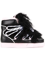 Sophia Webster 'Quentin' Lace Insert Sneakers Black