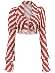 Amir Slama Cropped Blouse Red
