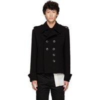 Wales Bonner Black Cropped Db Military Jacket
