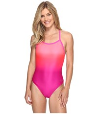 Speedo Ombre Flyback Pink Women's Swimsuits One Piece