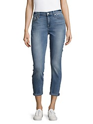 7 For All Mankind Five Pocket Rolled Cuff Cropped Jeans Eloise