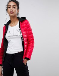 Armani Exchange Fitted Downs Padded Jacket 1429 Lollipop Red