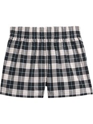 Burberry Check Cotton High Waisted Shorts Black