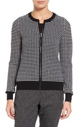 Halogenr Women's Halogen Zip Front Pointelle Cardigan