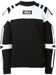 Hood By Air Cut Out Logo Sweatshirt Black